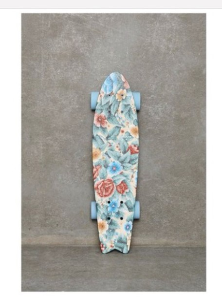 home accessory floral penny board summer sports