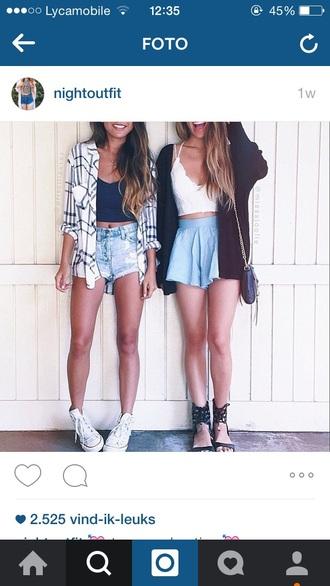 skirt shorts top crop tops crop cool summer top summer shorts cardigan