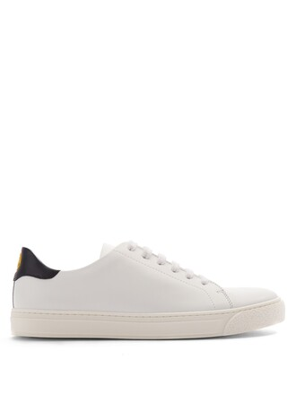 top leather navy white
