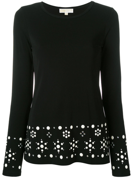 MICHAEL Michael Kors jumper women spandex embellished black sweater