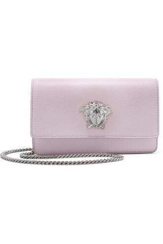 bag shoulder bag leather lilac