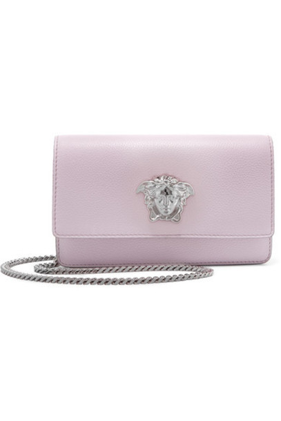 Versace - Textured-leather Shoulder Bag - Lilac