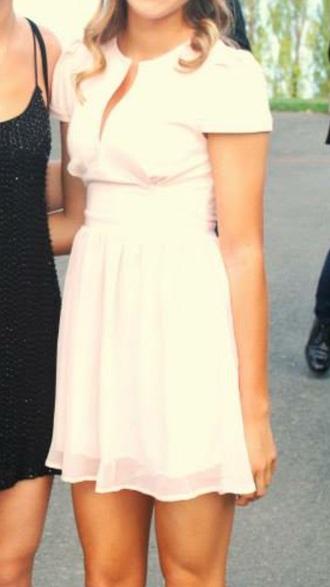 dress light pink homecoming dress short dress