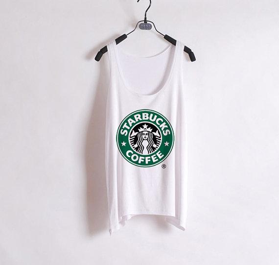 Starbucks logo tank top from shopwunderlust on storenvy
