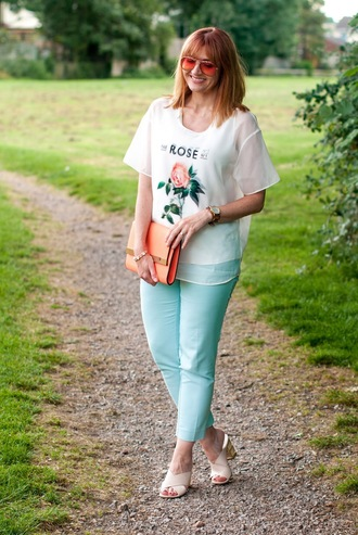 not dressed as lamb - over 40 fashion blog blogger top pants shoes bag sunglasses jewels