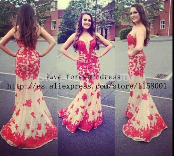 dress lace prom dress prom gown mermaid prom dress evening dress evening dress lace evening dress strapless dress strapless dressses