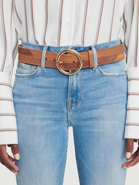 O Ring Patchwork Belt Saddle Multi