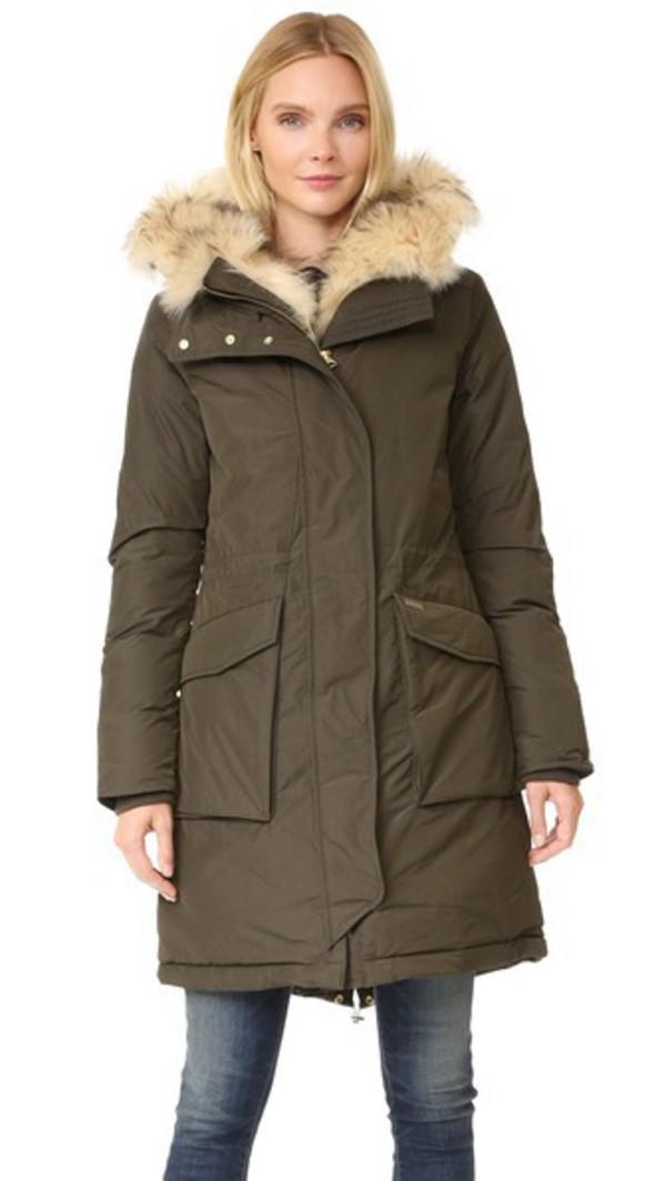 woolrich scarlett eskimo coat military olive wheretoget. Black Bedroom Furniture Sets. Home Design Ideas
