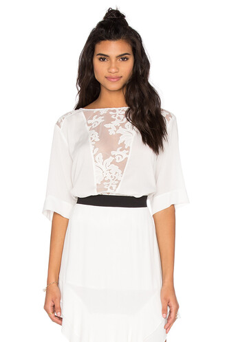 top lace top lace white