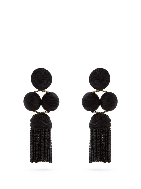 Rebecca De Ravenel earrings black jewels