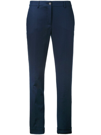 women spandex cotton blue pants