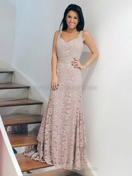 nude dress dress floor length dress lace dress lace ruched ruched dress prom dress formal dress beige dress