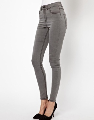 jeans grey skinny jeans high waisted jeans