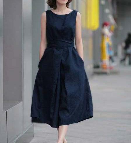 2013 hot new arrival linen sleeveless fashion maxi one-piece long dress | Amazing Shoes UK