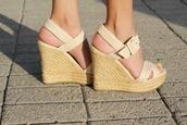 shoes,wedges,woven wedge,woven wedges,woven sandal heel,woven sandal wedge,cream wedges