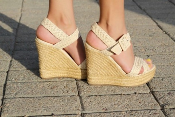 e27a485afd2 shoes wedges woven wedge woven wedges woven sandal heel woven sandal wedge  cream wedges