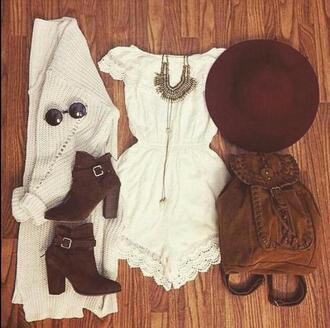 dress clothes boho white boots lace festival white dress shoes hat bag