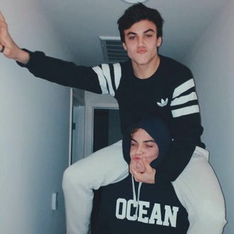sweater black dolan grayson ethan ethan dolan black sweater adidas grayson dolan 3strips boy menswear black jacket