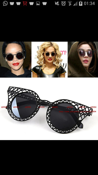 sunglasses rihanna vip miley cyrus merch bangerz bangerztour vintage vip gold silver jewelry we have lots pf colors: black like rihanna