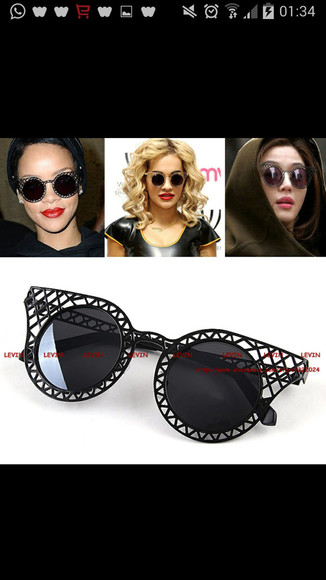 sunglasses gold vintage silver jewelry rihanna vip miley cyrus merch bangerz bangerztour vip we have lots pf colors: black like rihanna