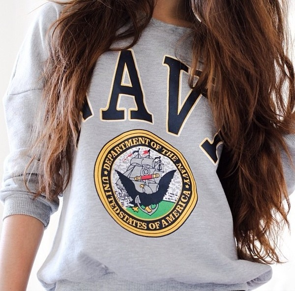 sweater navy grey