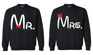 "Couple matching crewneck "" mr mrs "" mickey sweatshirt couple love super cute"