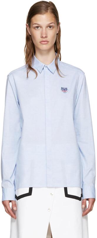 shirt tiger shirt tiger blue top