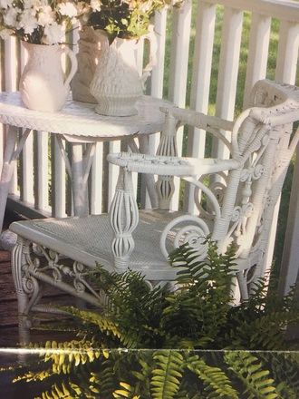 home accessory white corner chair