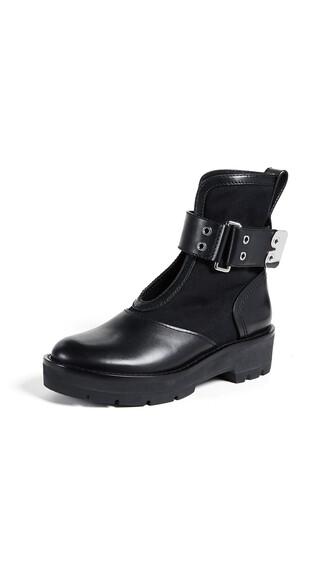 combat boots black shoes