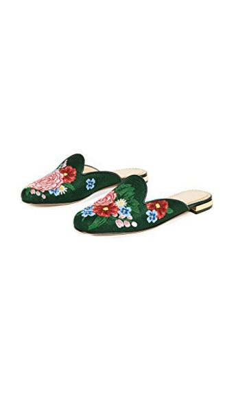 rose mules shoes