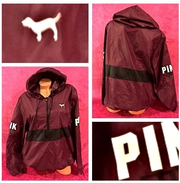 Secret PINK Anorak Pullover Windbreaker Rain Jacket Size L