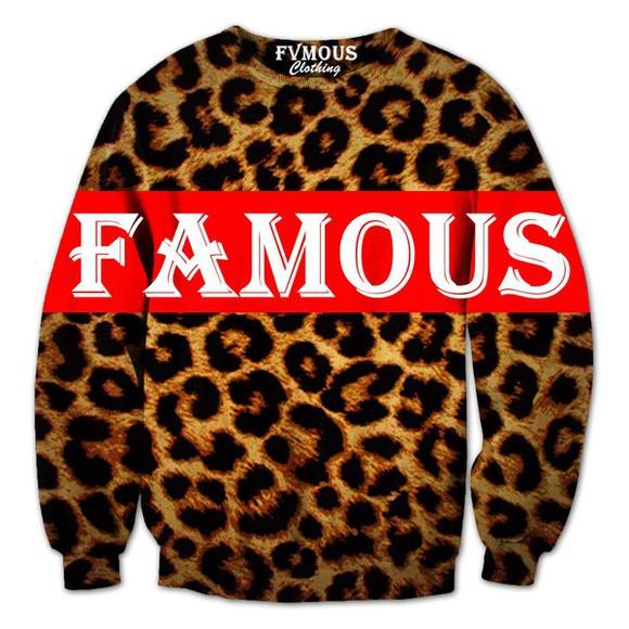 crewneck fvmous clothing famous
