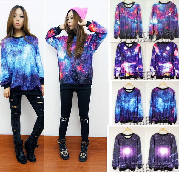 A 081901 star harajuku fashion casual sweater