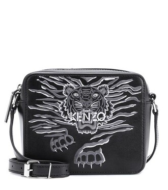 tiger bag shoulder bag leather black