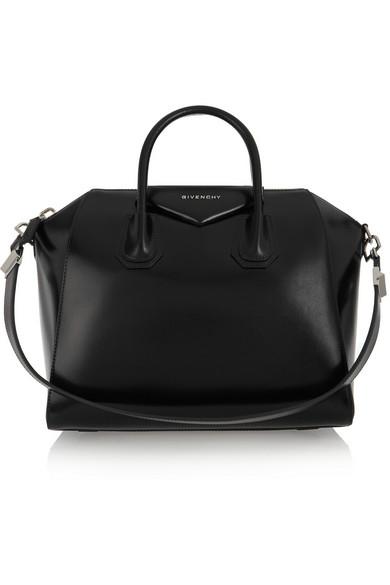 Givenchy - Sac Antigona moyen modèle en cuir noir