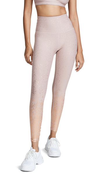 Beyond Yoga Alloy Ombre High Waisted Midi Leggings in gold / rose