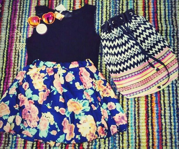 floral shorts with patterns