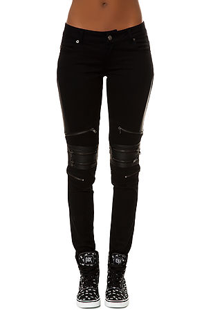 Tripp NYC Pants Knee Zip in Black -  Karmaloop.com