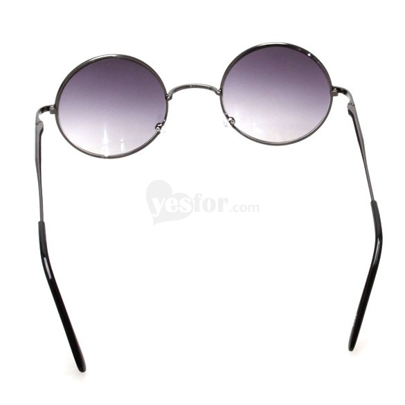 Fashionable Sunglasses UV400 Protection Stylish Sunglasses Progressive Round Lens Metal Frame, unit price of $6.62 only - Yesfor.com