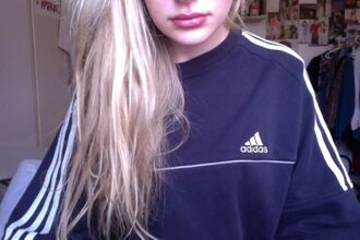 sweater adidas crewneck navy blue and white striped adidas sweater grunge