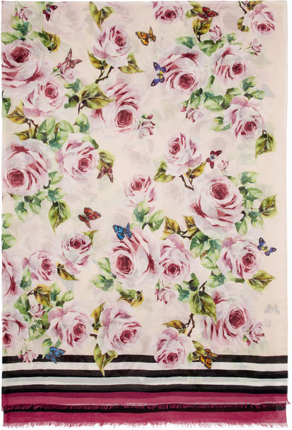 Dolce and Gabbana scarf floral pink