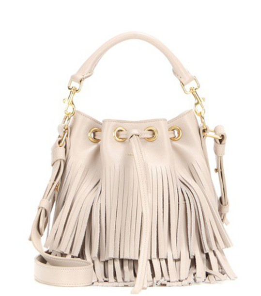Saint Laurent leather beige bag