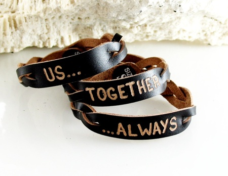 personalized name id leather bracelet engraved gift ebay