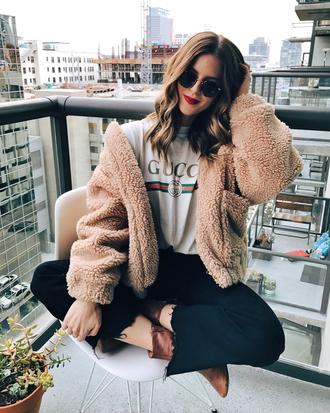 take aim blogger shirt t-shirt jacket jeans shoes sunglasses gucci