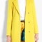 Msgm | yellow wool coat by msgm