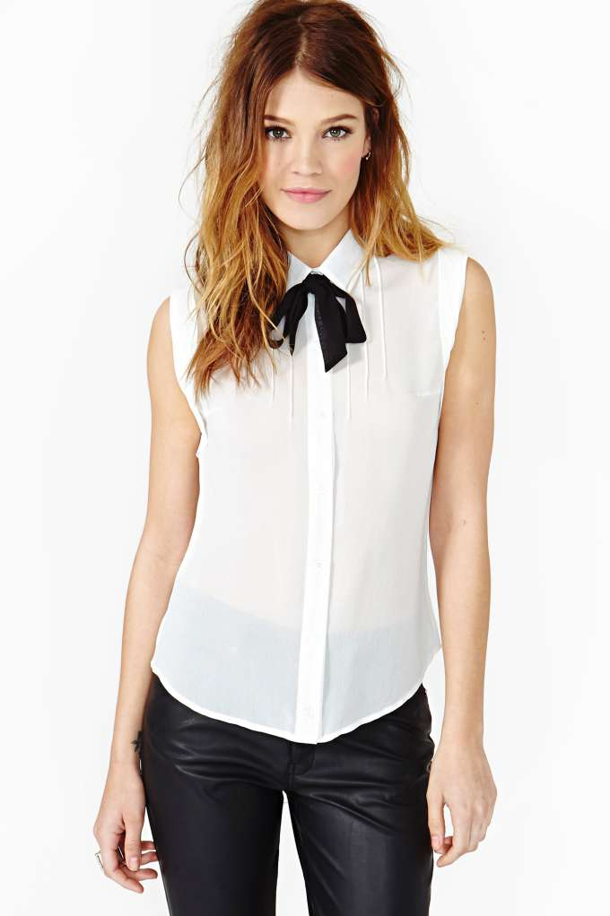 Bonjour Blouse  in  What's New Back In Stock at Nasty Gal