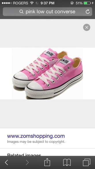 shoes converse low cut pink
