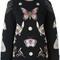 Alexander mcqueen 'obsession' jumper, women's, size: xs, black, silk/polyamide/polyester/metallic fibre