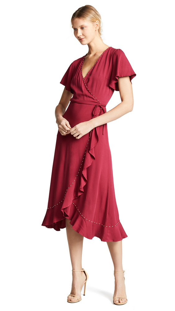 Loyd/Ford Wrap Dress in gold / magenta