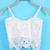 White Spaghetti Strap Floral Crochet Lace Vest - Sheinside.com